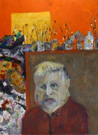 Rene de Loffre- Francis Bacon in Studio-  2005