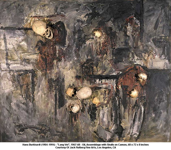 """Assemblage with Skulls on Canvas"",  1967-68"