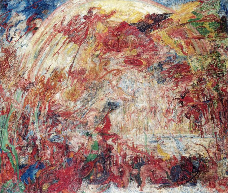 """James Ensor,  """"The Fall of the Rebellious Angeles""""  1889"""