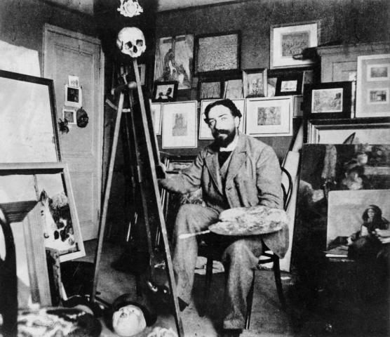 James Ensor in his Studio (c.1897)