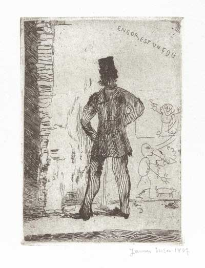 "James Ensor, ""The Pisser""  1887"
